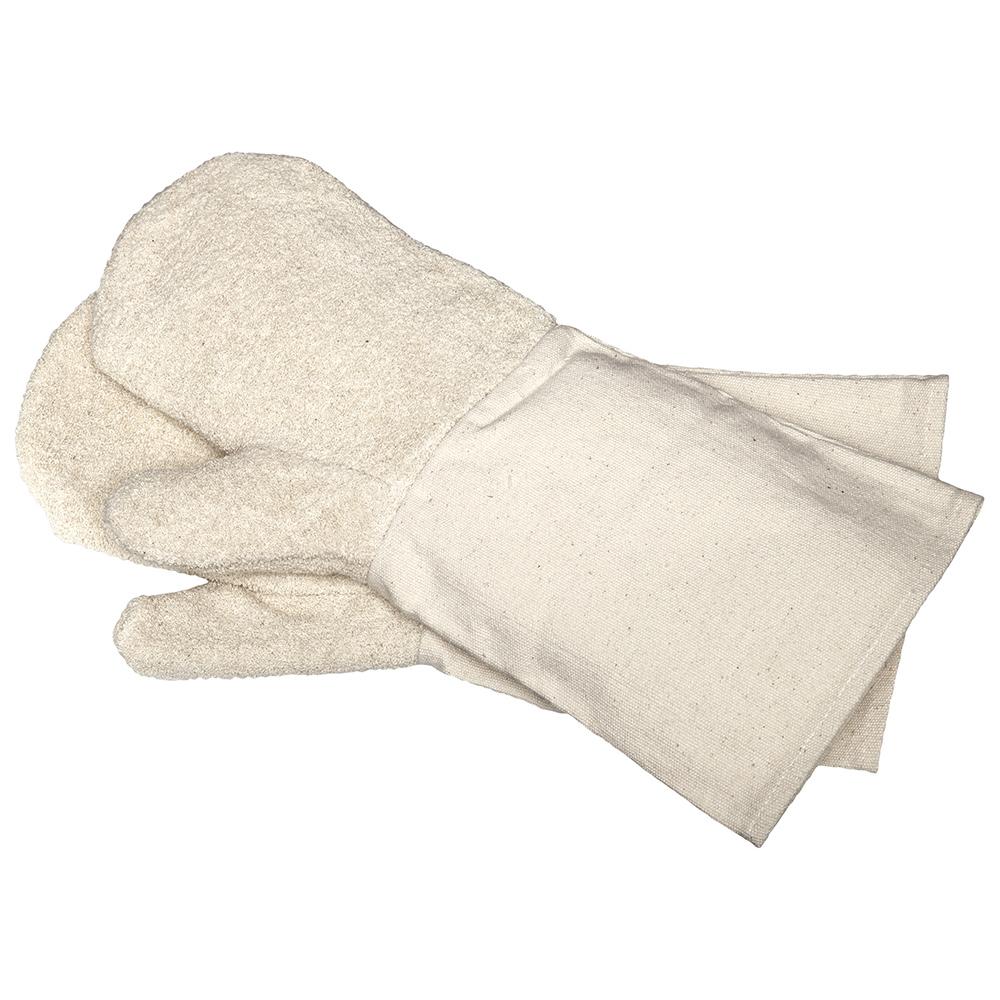 Backhandschuhe aus Baumwolle - mit Stulpe 8502ST